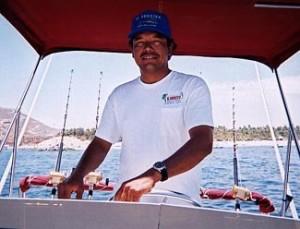 Captain Salvador at the helm of El Budster.