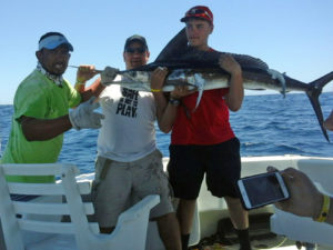 Striped Marlin fished in Cabo San Lucas on 7/14/16
