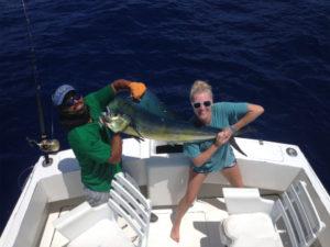 25 lb. Dorado fished in Cabo San Lucas on 8/17/16