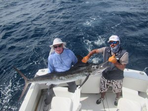 130 lb Striped Marlin fished in Cabo San Lucas on 1/30/20