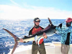 Caught and released 120 lb Striped Marlin in Cabo San Lucas on 12/7/20