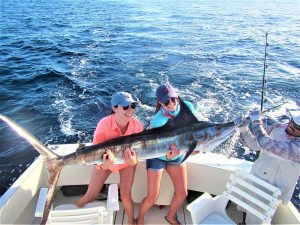 Catch & release 120 and 130 lb Striped Marlin in Cabo San Lucas on 12/22/20