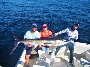 Catch & release 120 lb Striped Marlin in Cabo San Lucas on 1/18/2021