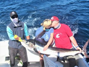 Catch & release 130 lb Striped Marlin in Cabo San Lucas on 2/8/2021