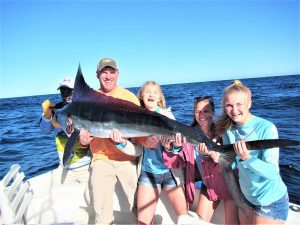 Catch and release STRIPED MARLIN. 130 LB. in Cabo San Lucas on 2/19/21