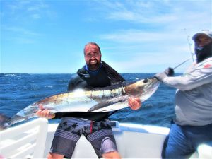 Caught  and released 2 Striped Marlin, 130 and 110 lb, in Cabo San Lucas on 4/16/21