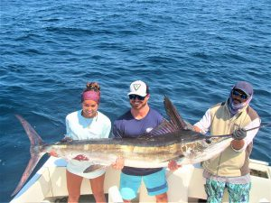 Catch & release 140 lb and 110 lb Striped Marlin in Cabo San Lucas on 5/7/2021