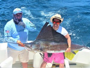 Catch & release 100 LB Pacific Sailfish in Cabo San Lucas on 5/24/2021