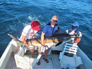 Catch & release 110 LB. 120LB. 100 LB. and 140 LB Striped Marlin in Cabo San Lucas on 6/7/2021