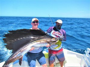 Caught  and released 90 lb Pacific Sailfish in Cabo San Lucas on 6/10/21