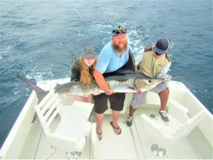 Catch & release 100LB. 130 LB. and 120 LB Striped Marlin in Cabo San Lucas on 6/14/2021
