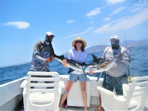 Catch & release 90LB. and 140 LB Striped Marlin in Cabo San Lucas on 6/18/2021