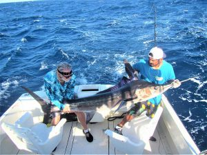 Catch & release 130 & 140 LB Striped Marlin in Cabo San Lucas on 9/2/2021